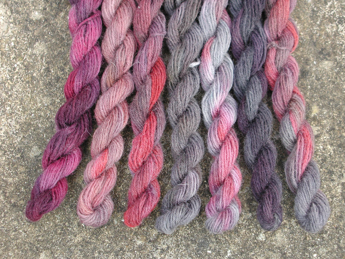 brazilwood-cochineal-logwood-rainbow-dyed-mini-skeins
