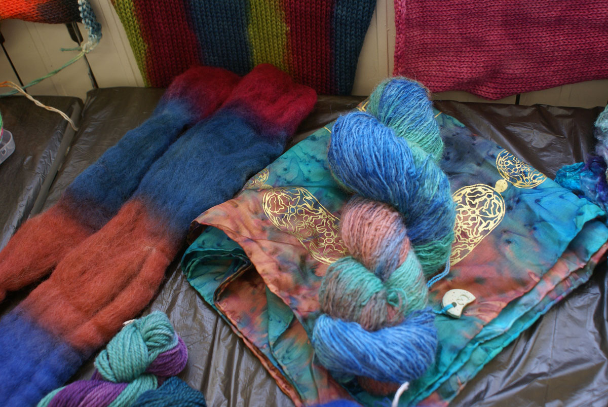 Stunning colours - hand-dyeing workshops