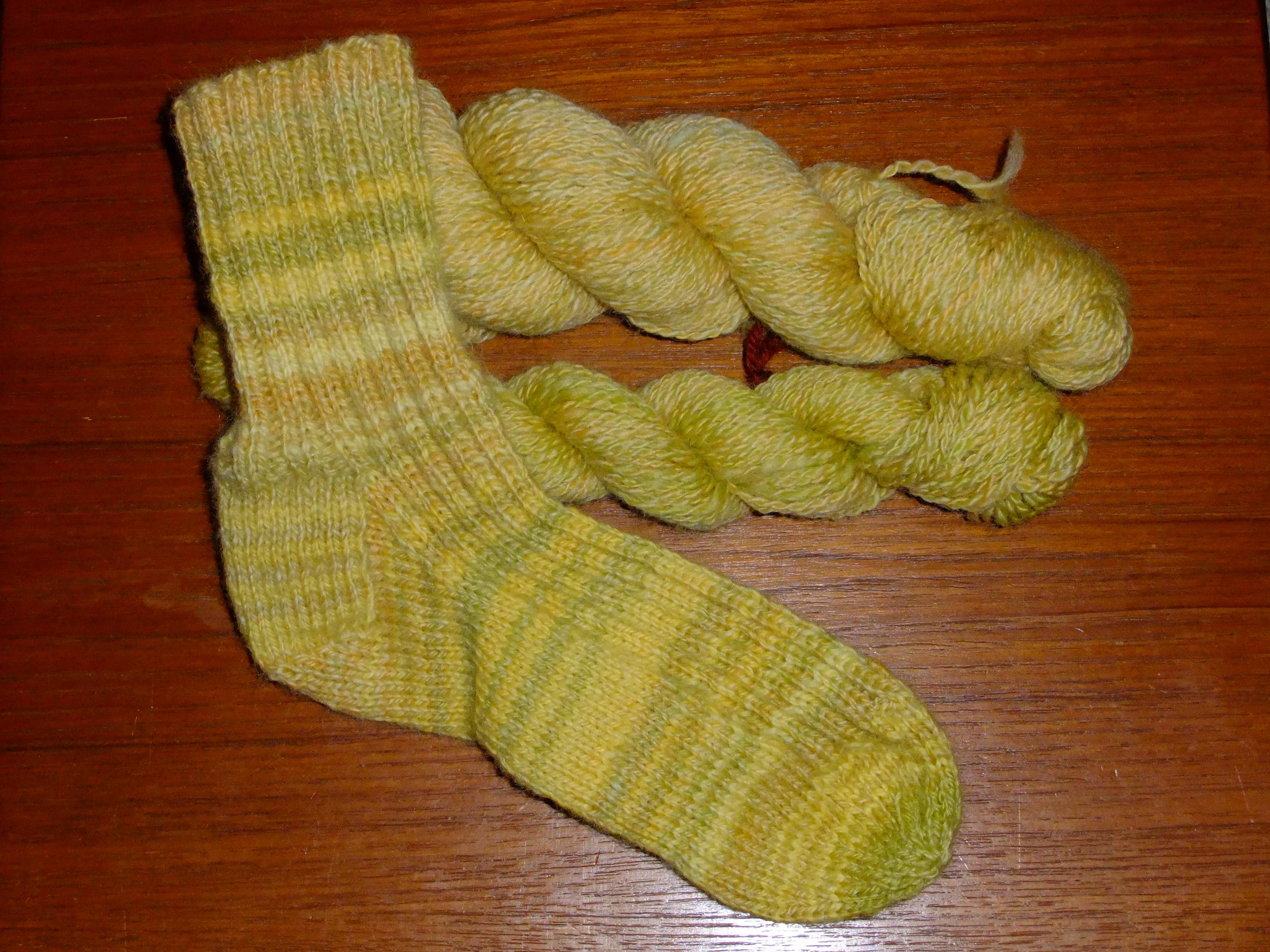 Debbie's hand-dyed, handspun socks