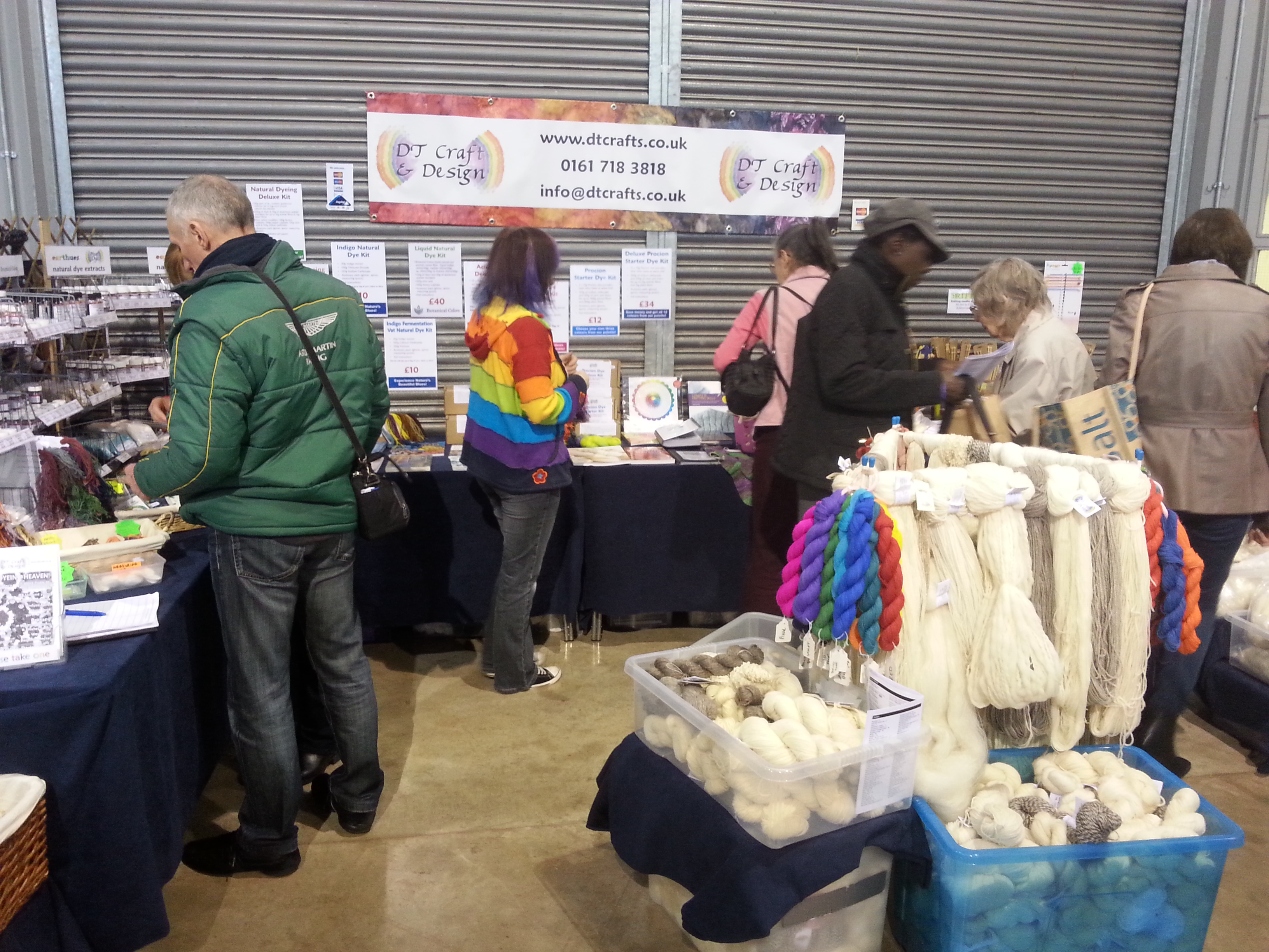 DT Craft and Design stall at Bakewell wool gathering october 2015