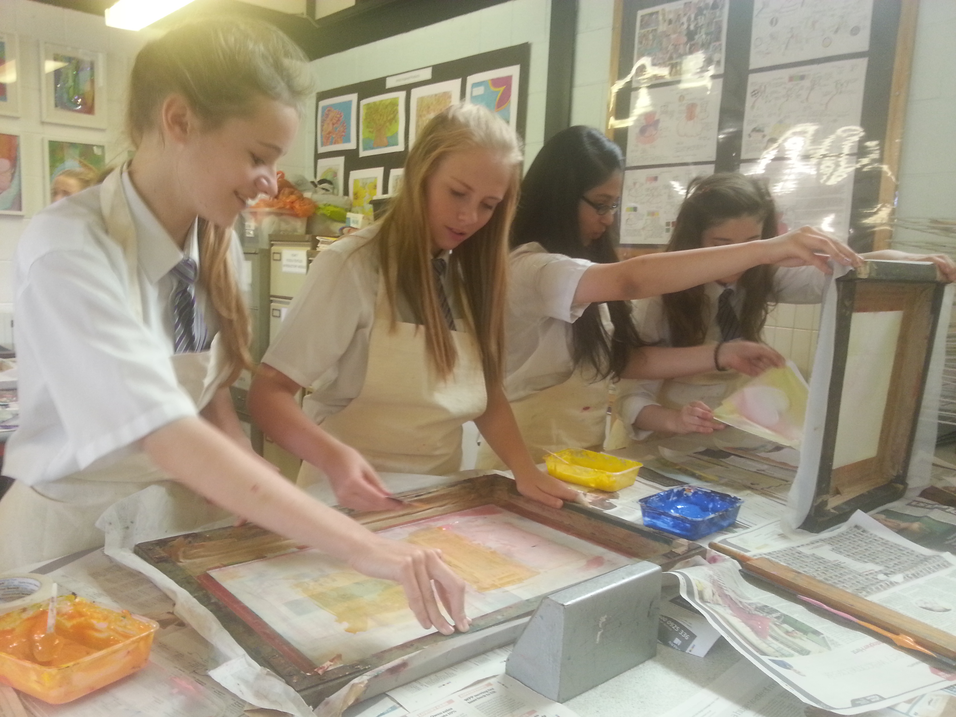 Workshops & Courses with Debbie Tomkies - Introduction to Screenprinting with GCSE students
