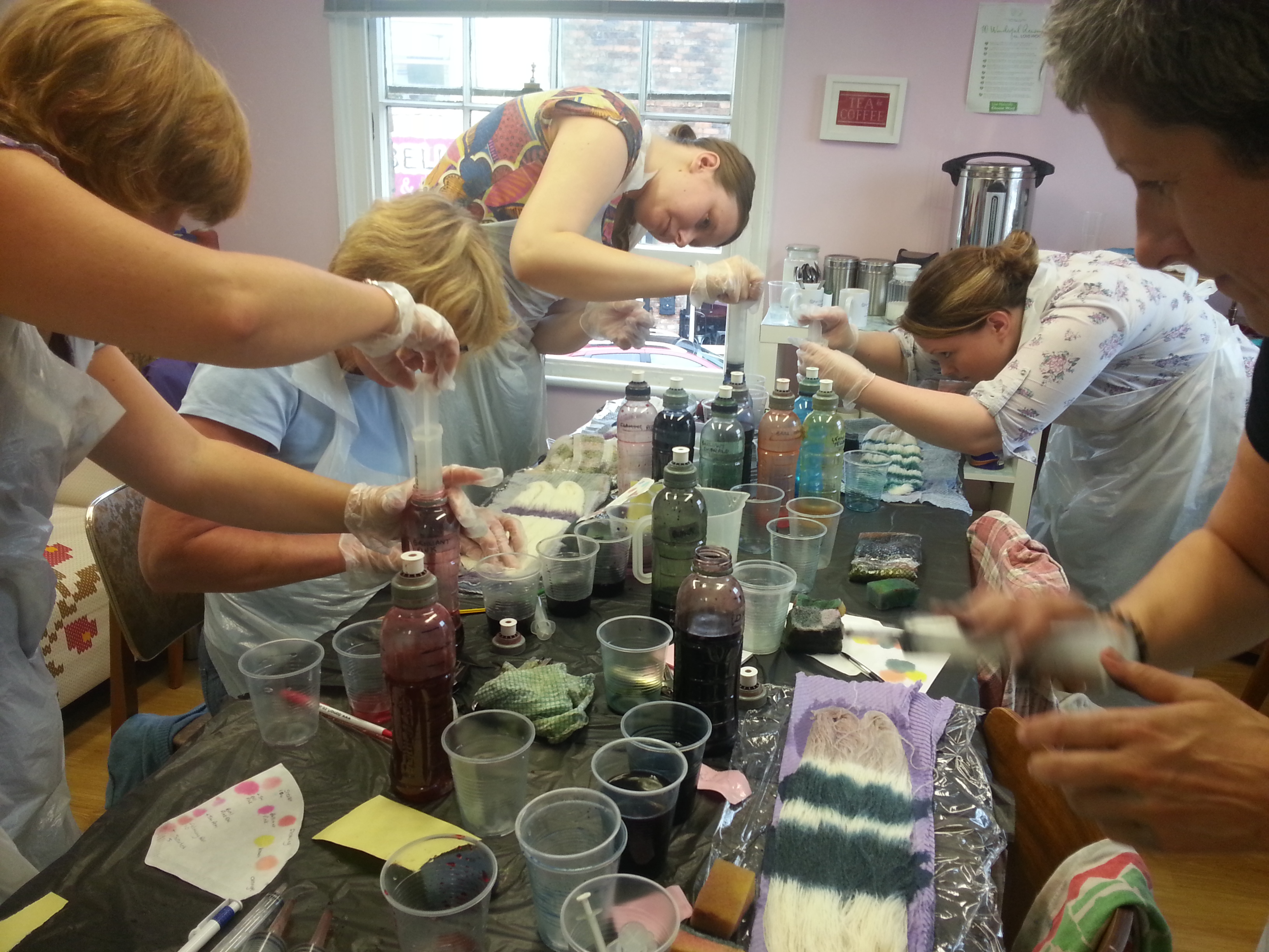 Workshops & Courses with Debbie Tomkies - Introduction to hand dyeing with synthetic dyes