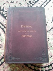 Dye history books - Image of volumes 1 and 2 Antonio Sansonne Dyeing 1888