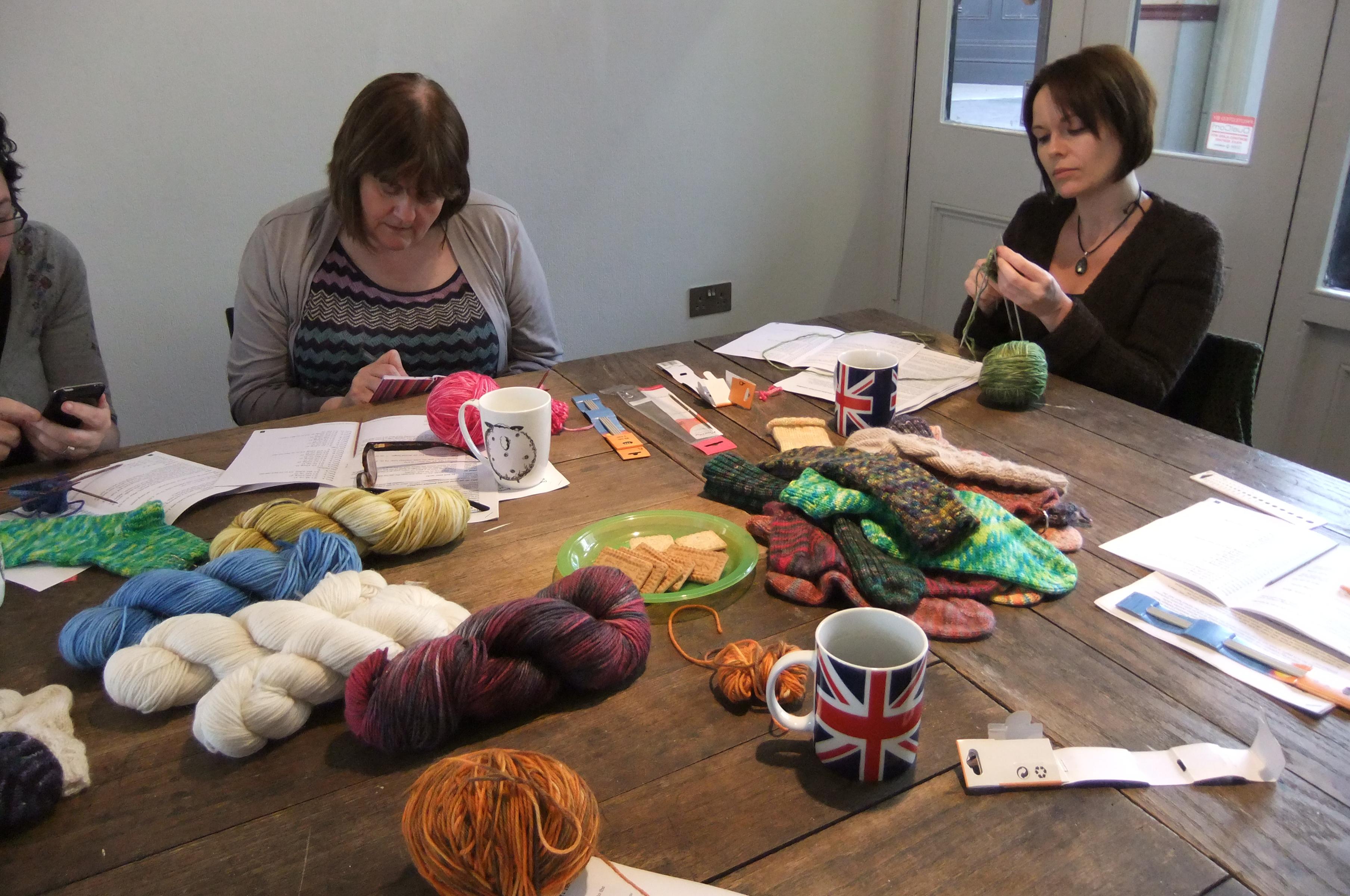 Knitting workshops by debbie tomkies of dt craft and design
