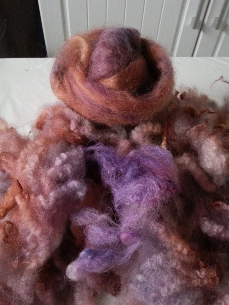 Hand-dyed fleece and roving