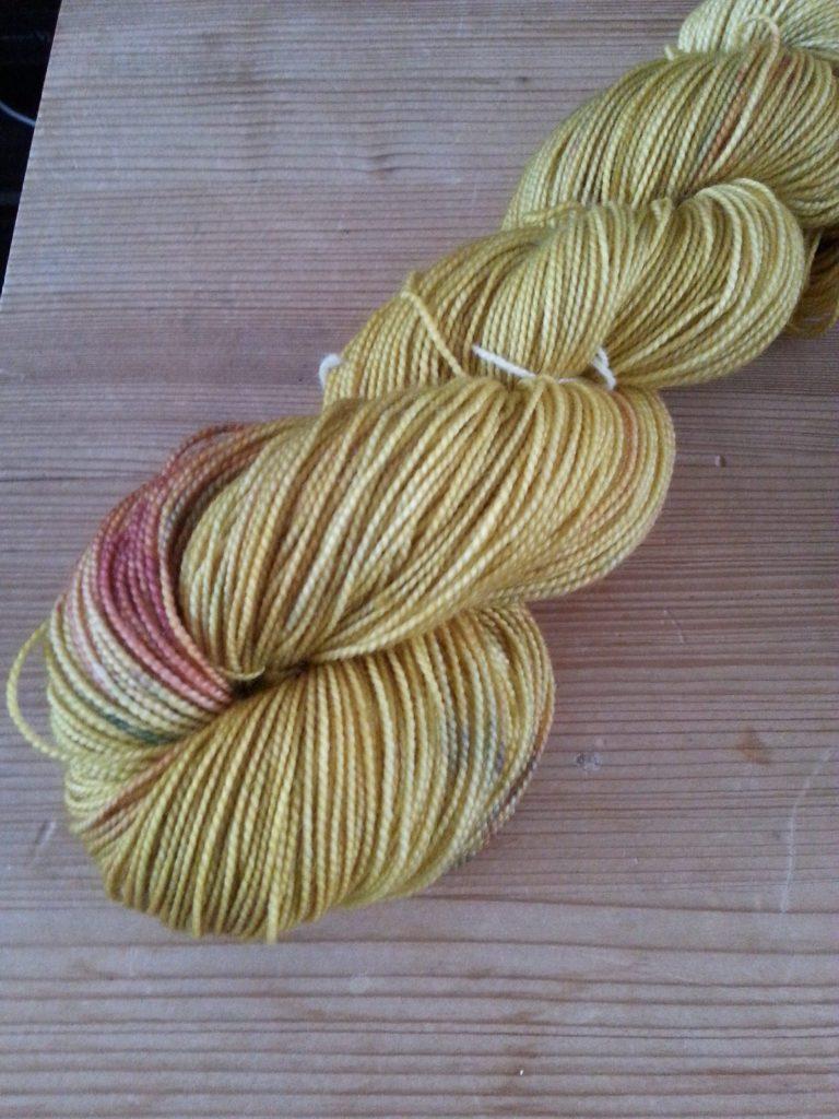 Hand-dyed high twist merino nylon sock