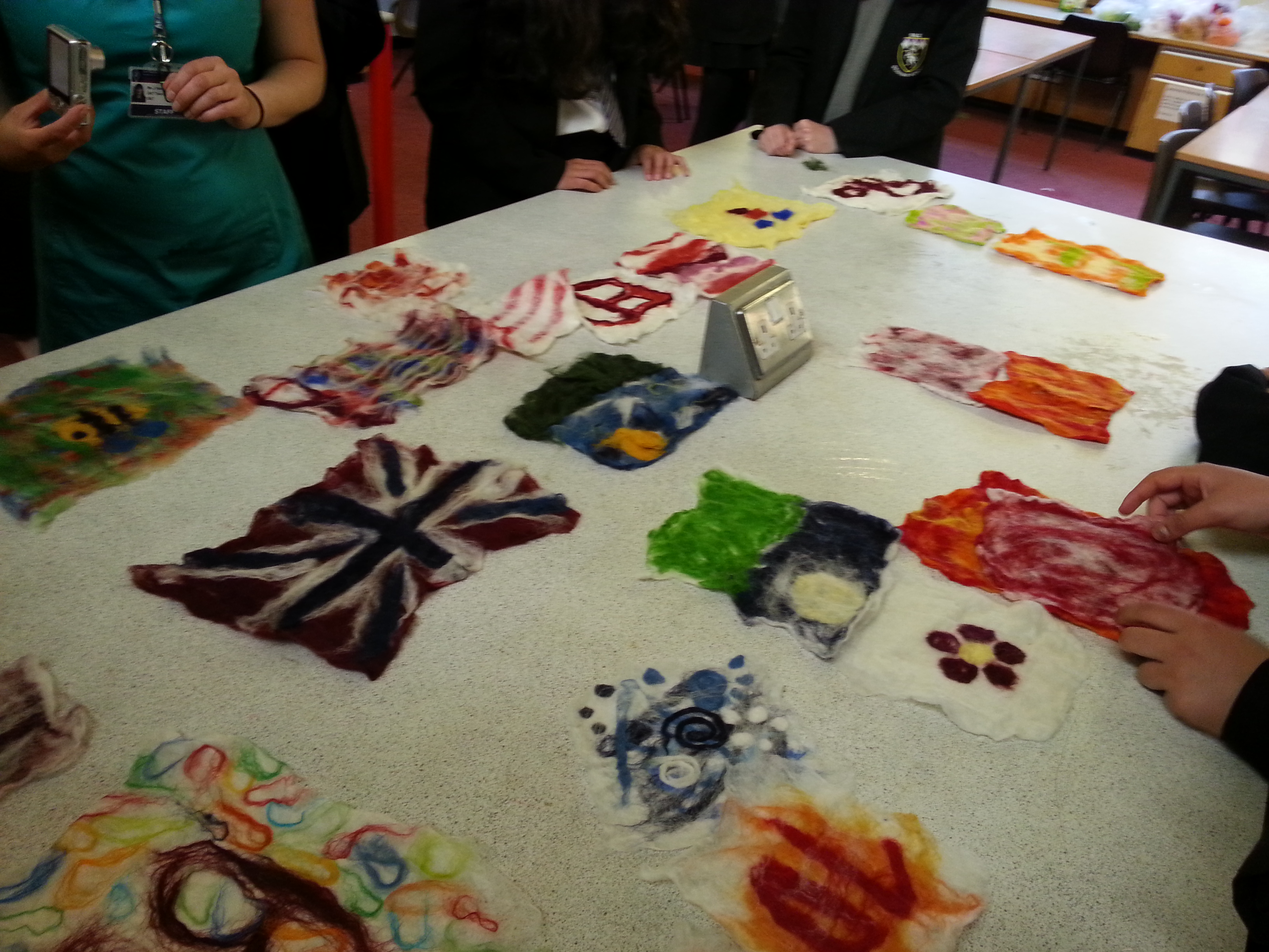 felting with gcse d and t students