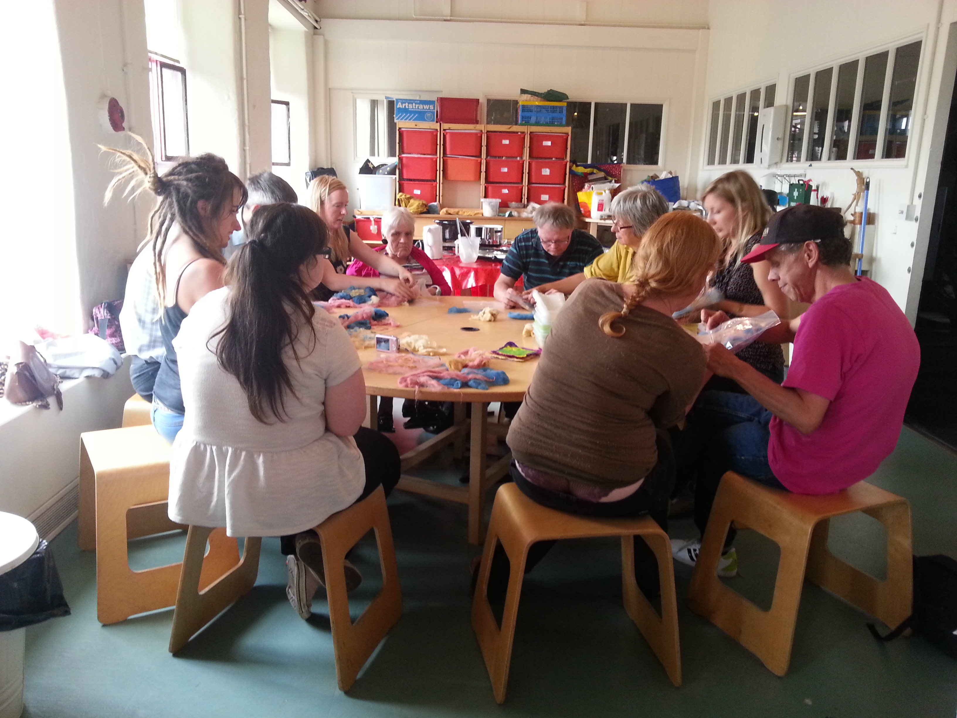 Community felting session with Debbie Tomkies of Making Futures