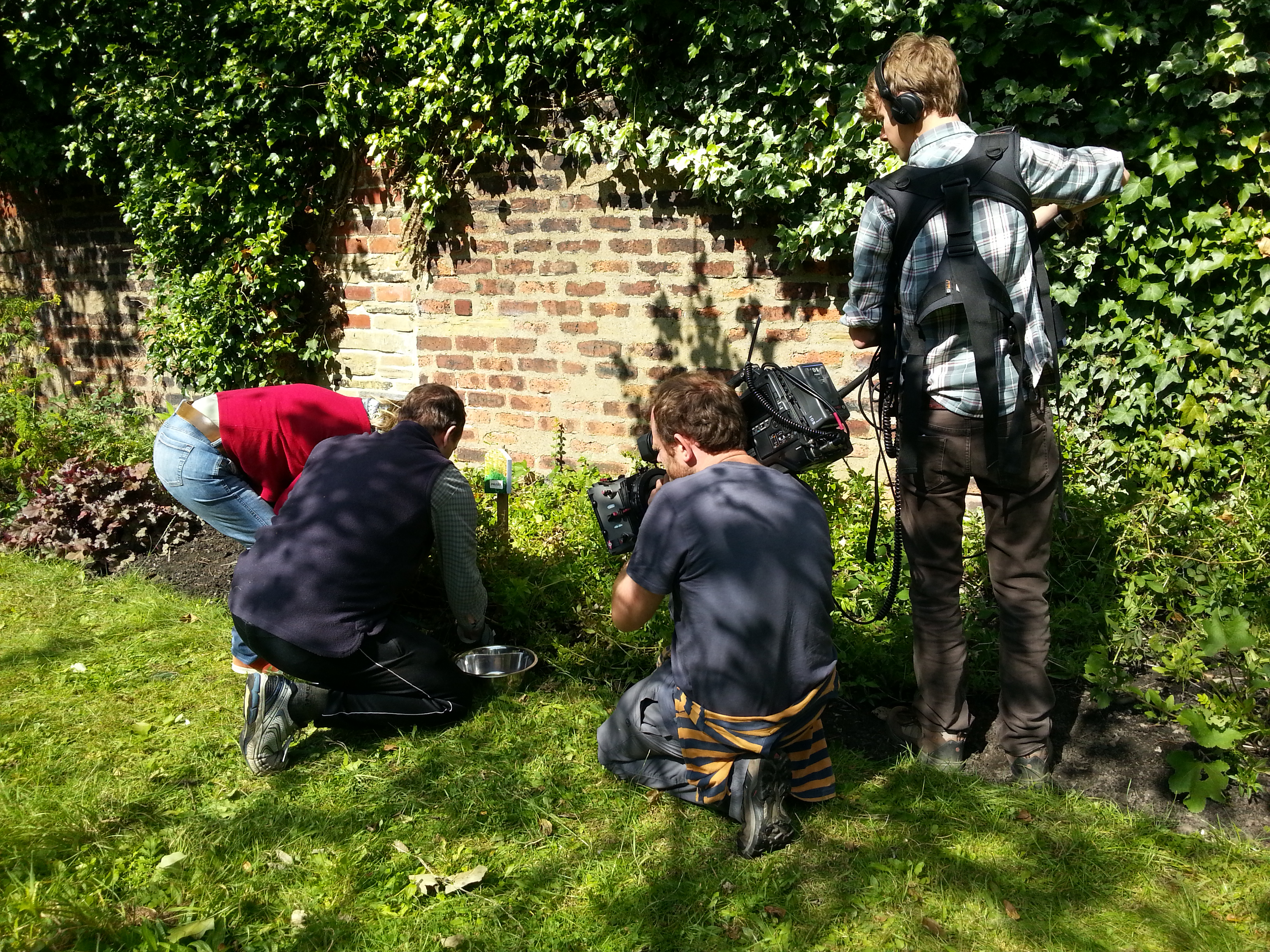 Filming for the BBC's Glorious Gardens from Above tv series with Debbie Tomkies of Making Futures