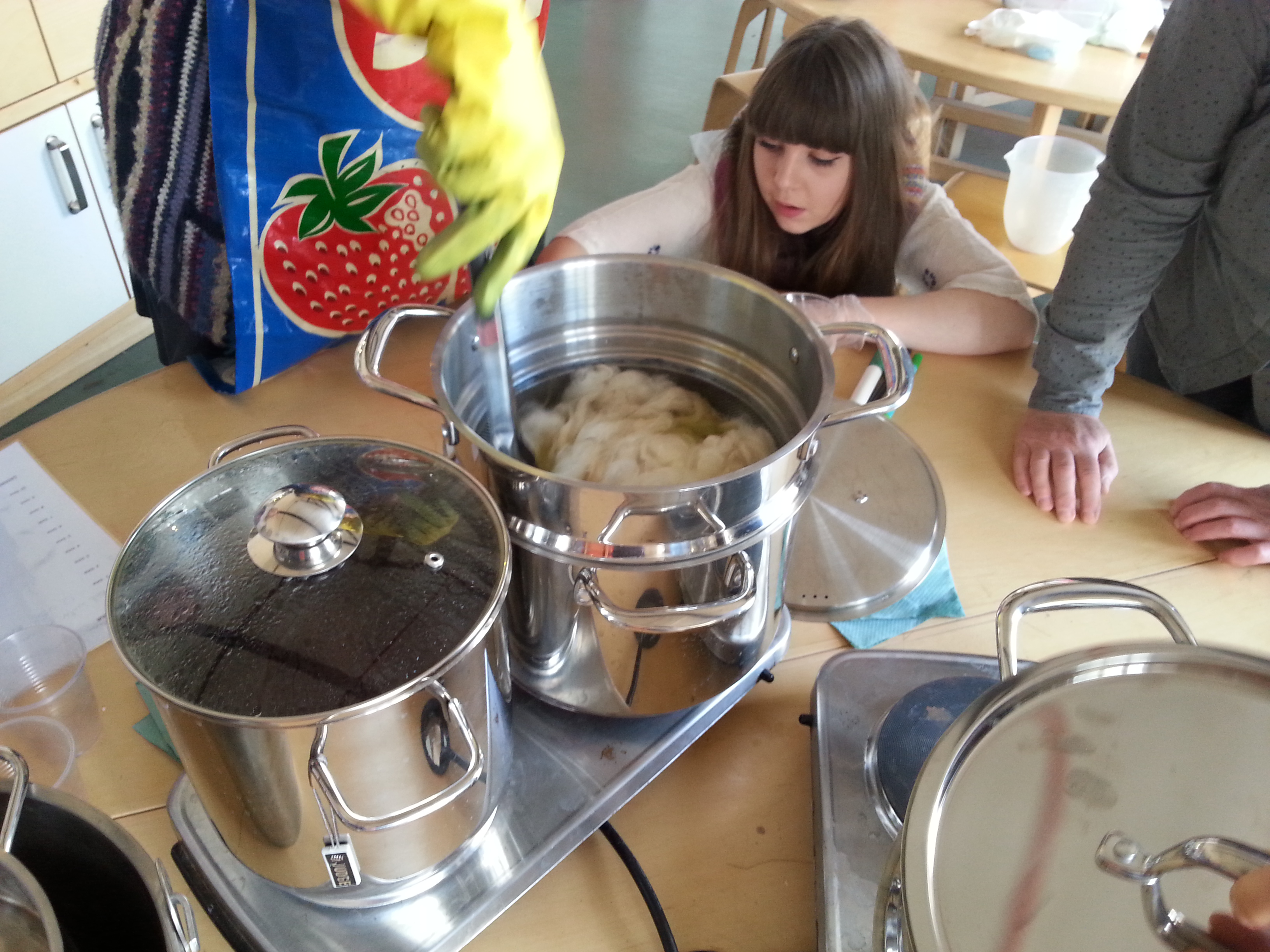 Armley Mills - Wm. Gott dye recipe book - dyeing session with Debbie Tomkies of Making Futures