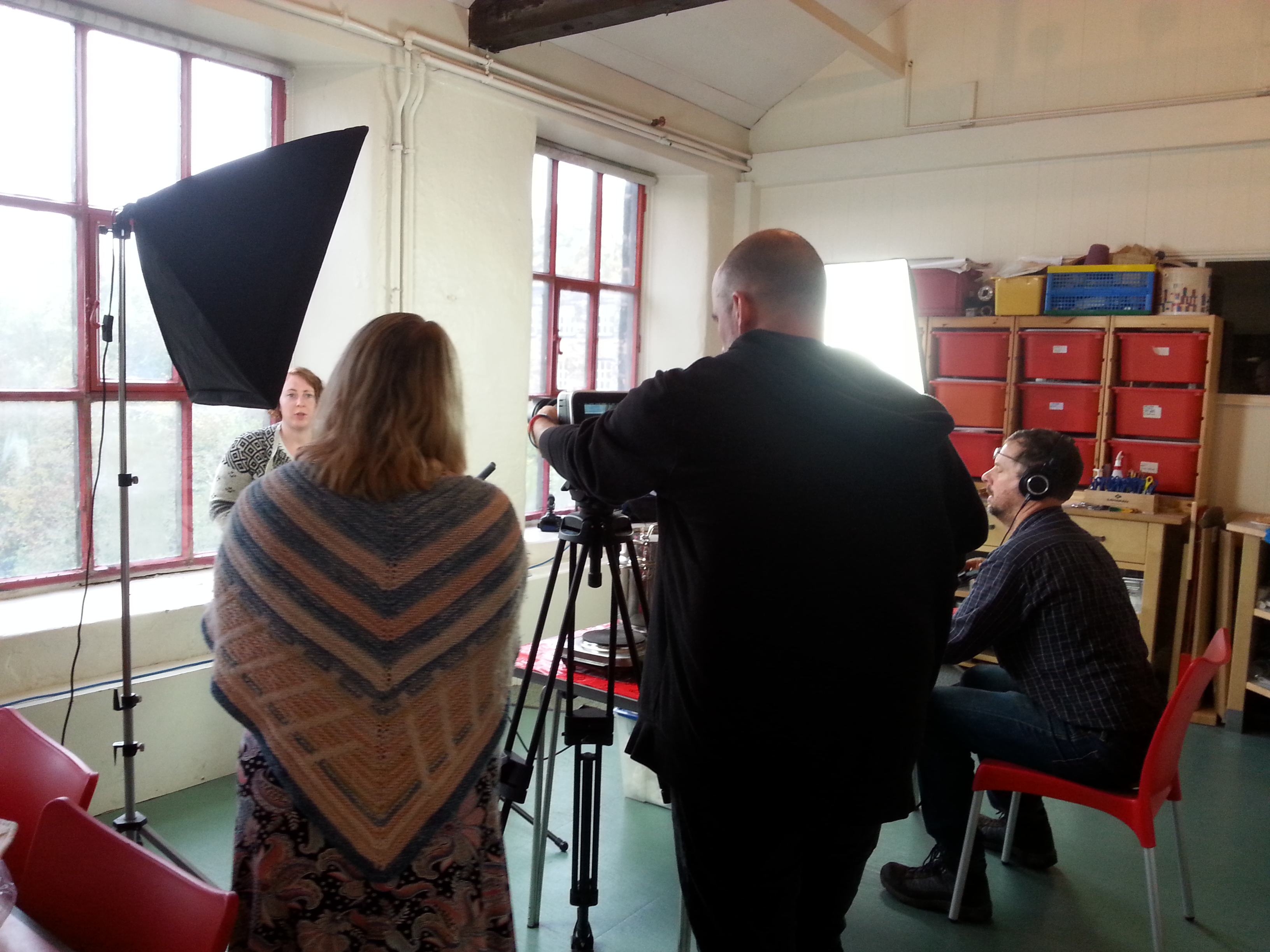 Armley Mills - Wm. Gott dye recipe book exhibition filming