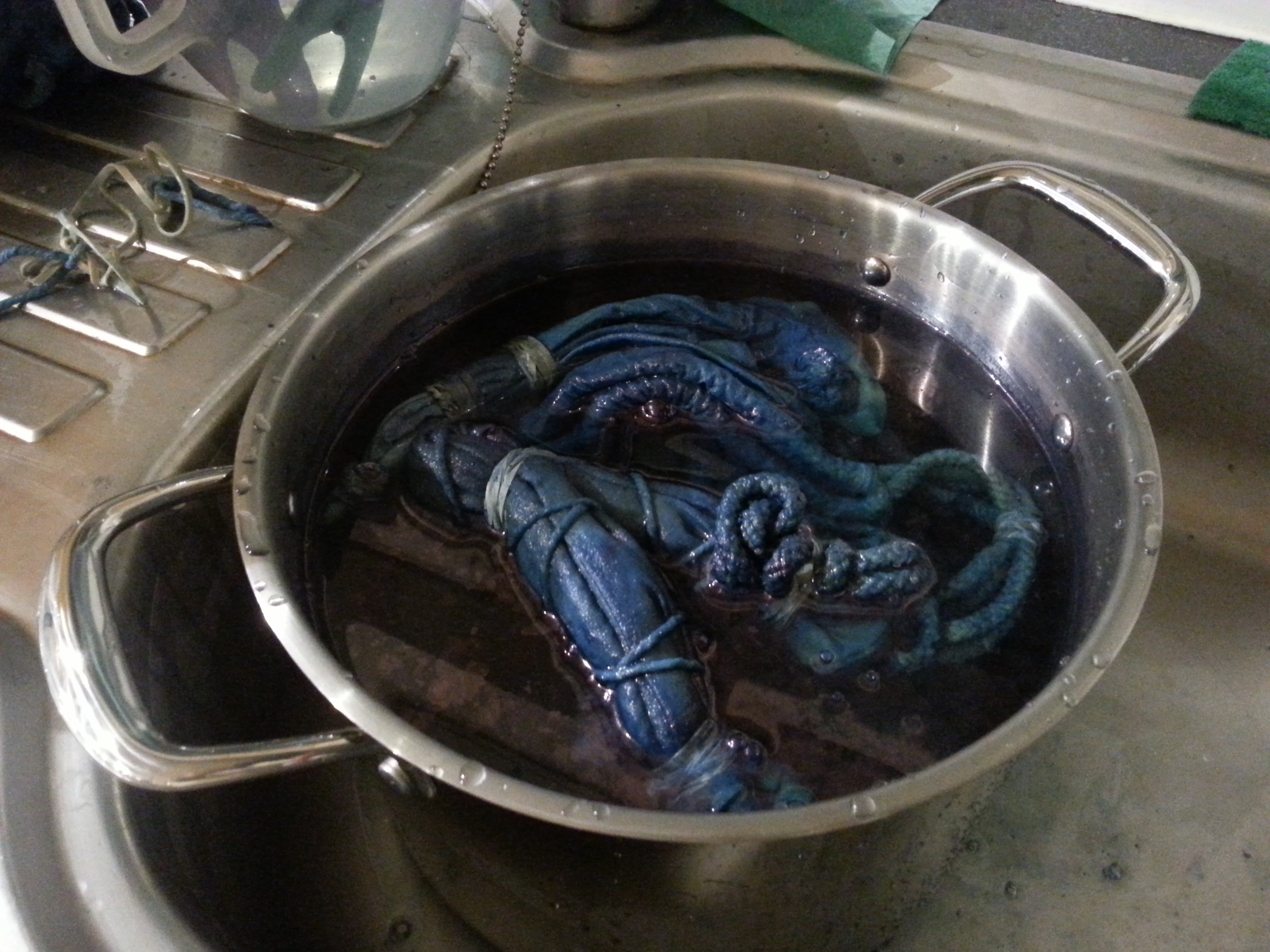 Indigo dyeing workshop with after-school clubs with Debbie Tomkies of Making Futures