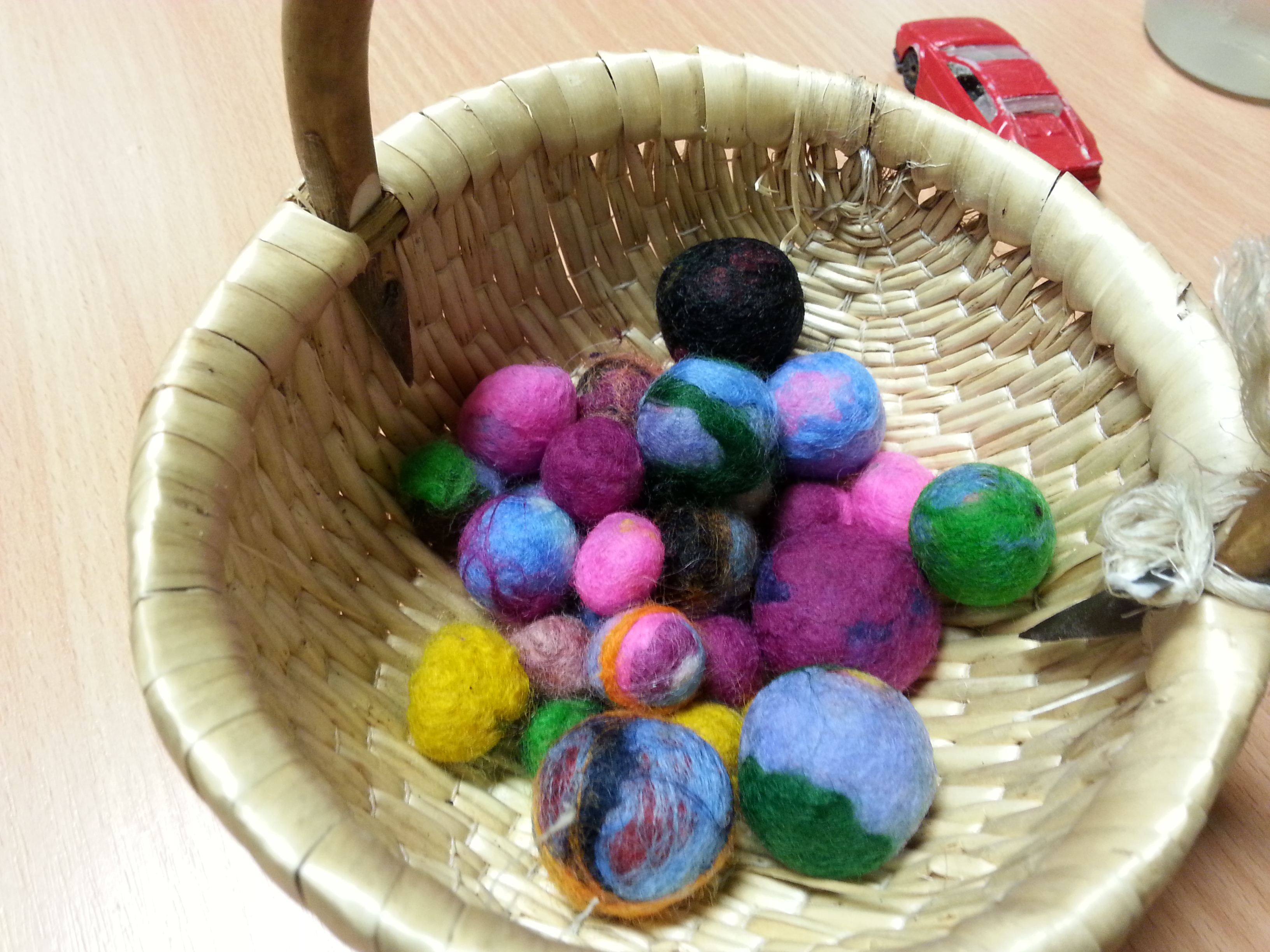 felting sessions with gcse d and t students