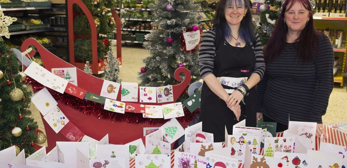 Cards made by local Sale residents for Make a Card - Share a Smile with Debbie Tomkies and Making Futures