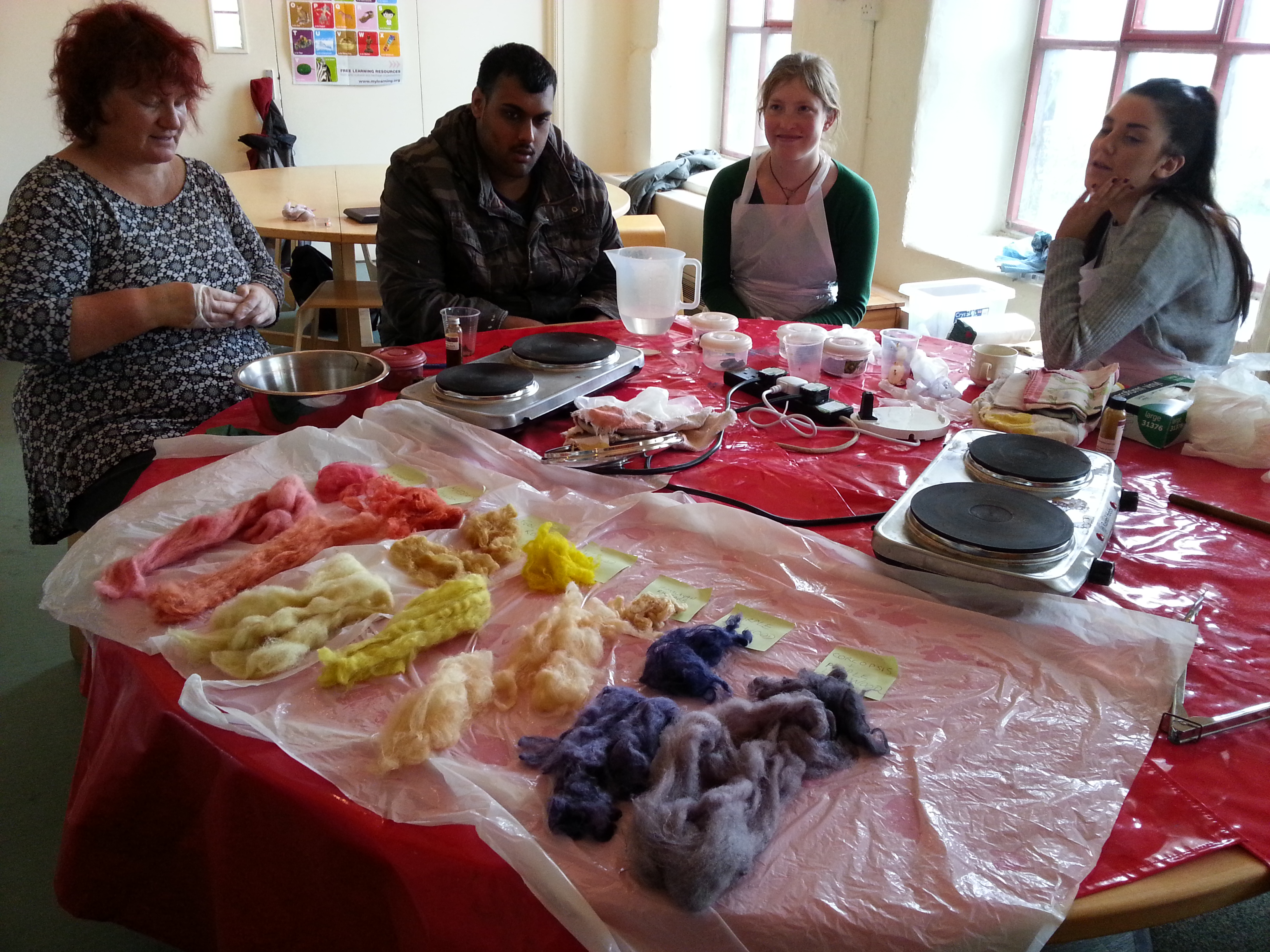 Community natural dyeing session at Armley Mills with Debbie Tomkies of Making Futures