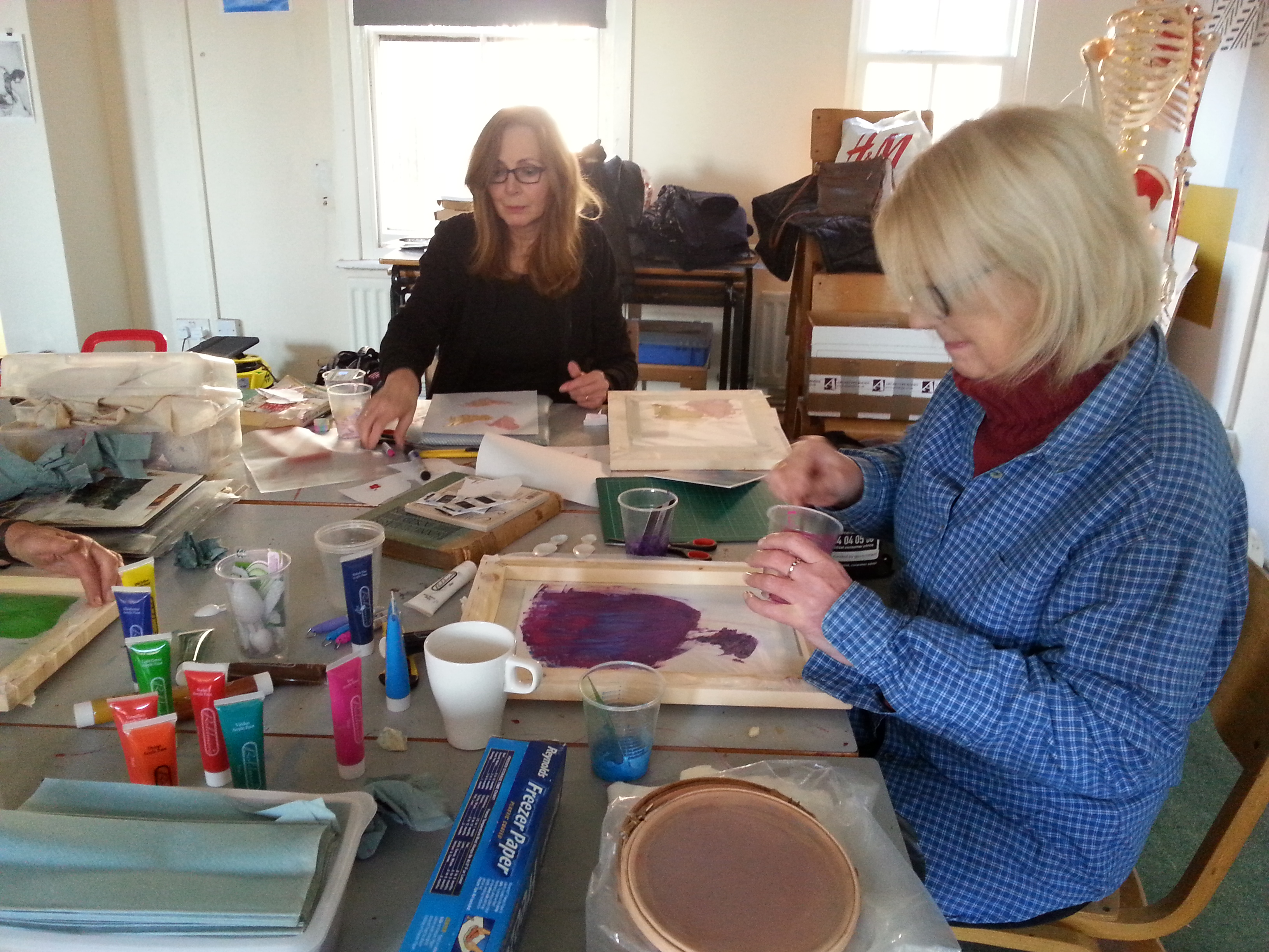Open Studios Altrincham Friday Textiles Group with Debbie Tomkies of DT Craft & Design