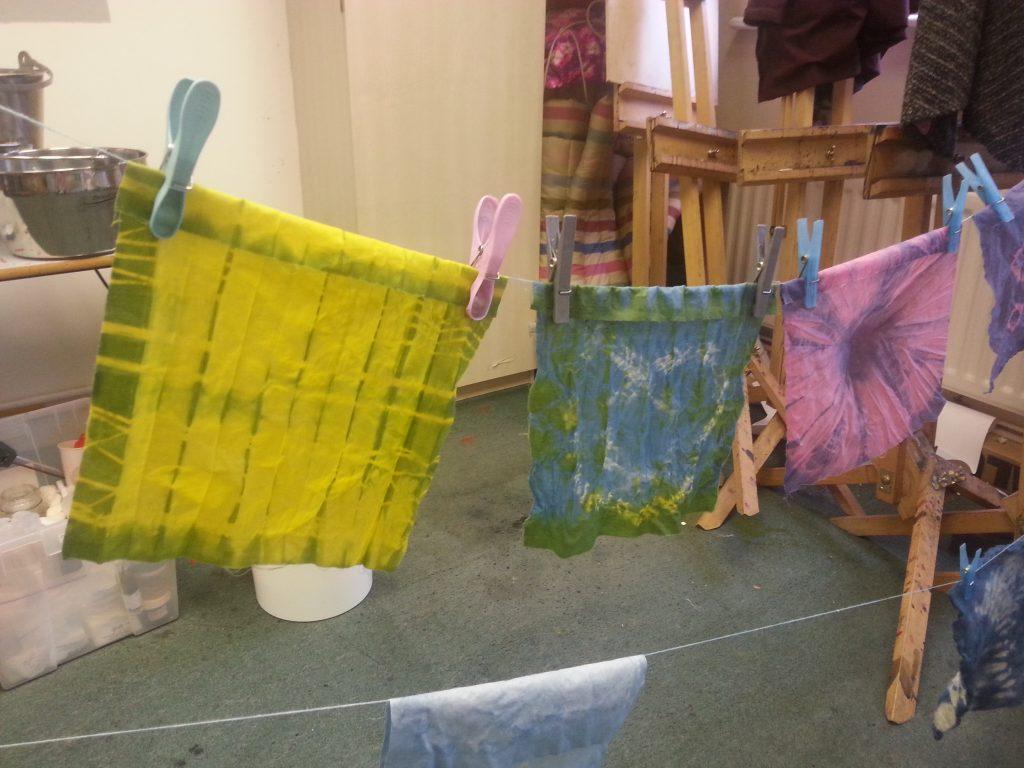 Indigo dyeing workshop - Nature's Beautiful Blues - Open Studios Altrincham