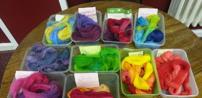 Introduction to dyeing with procion dyes with Debbie Tomkies at Black Sheep Yarns