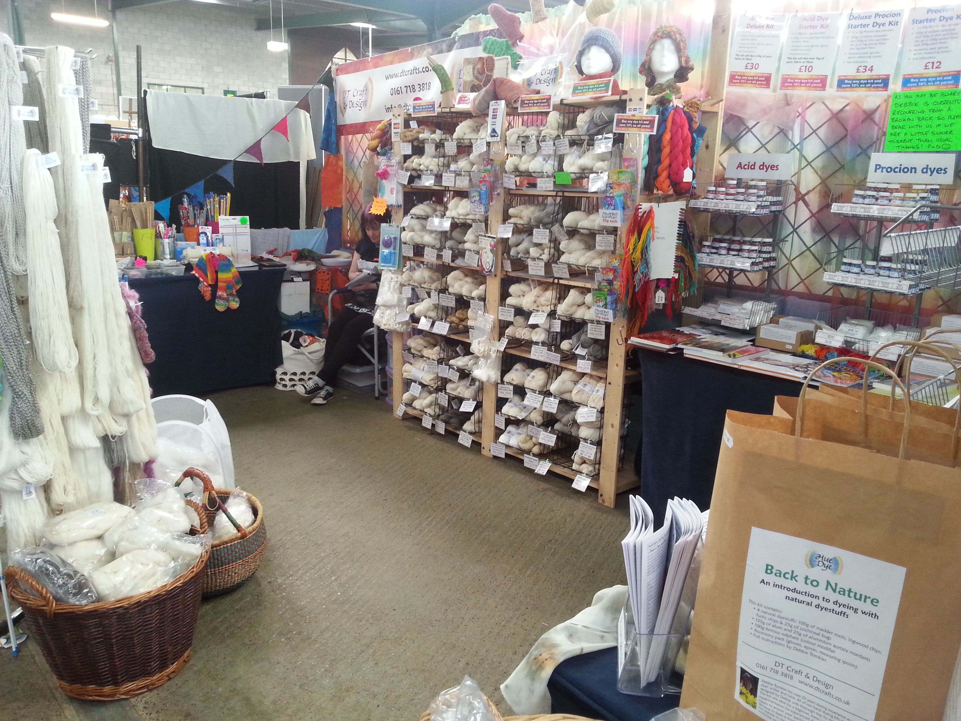 DT Craft & Design Stall C63-C64 at Woolfest, 22nd -23rd June 2018