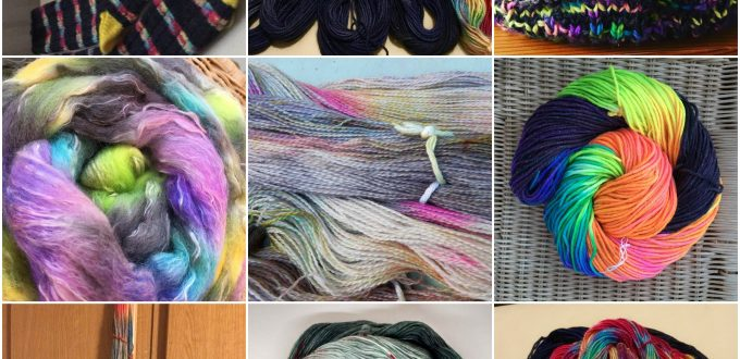 A collage of contributions for the DT Craft and Design Dye-a-Long - Nov 17 - Fireworks