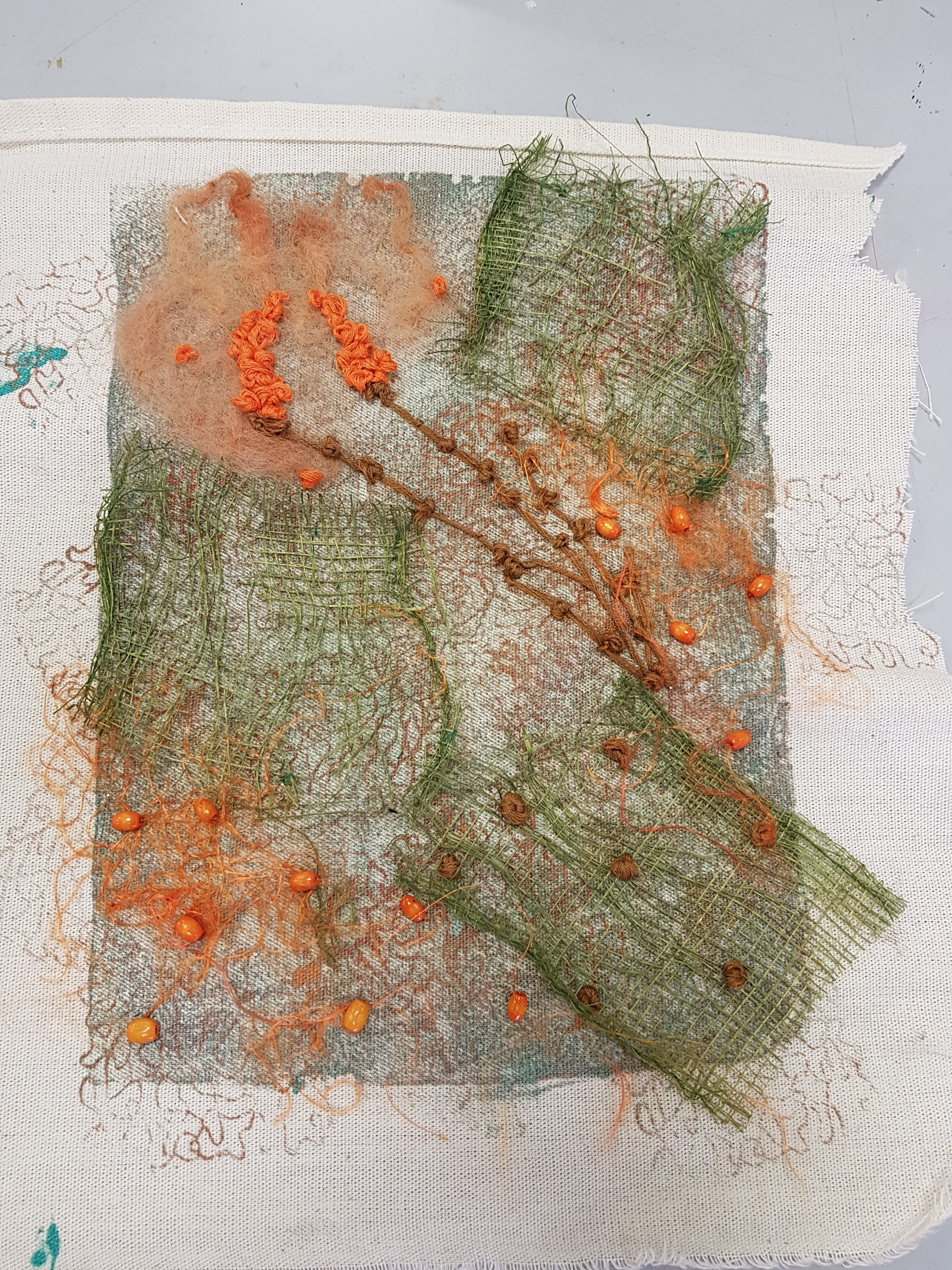 student work from debbie tomkies friday textiles group at altrincham open studios