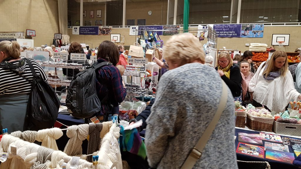 DT Craft and Design stall at yarn and fibre show, Spring Into Wool, Leeds, 2018