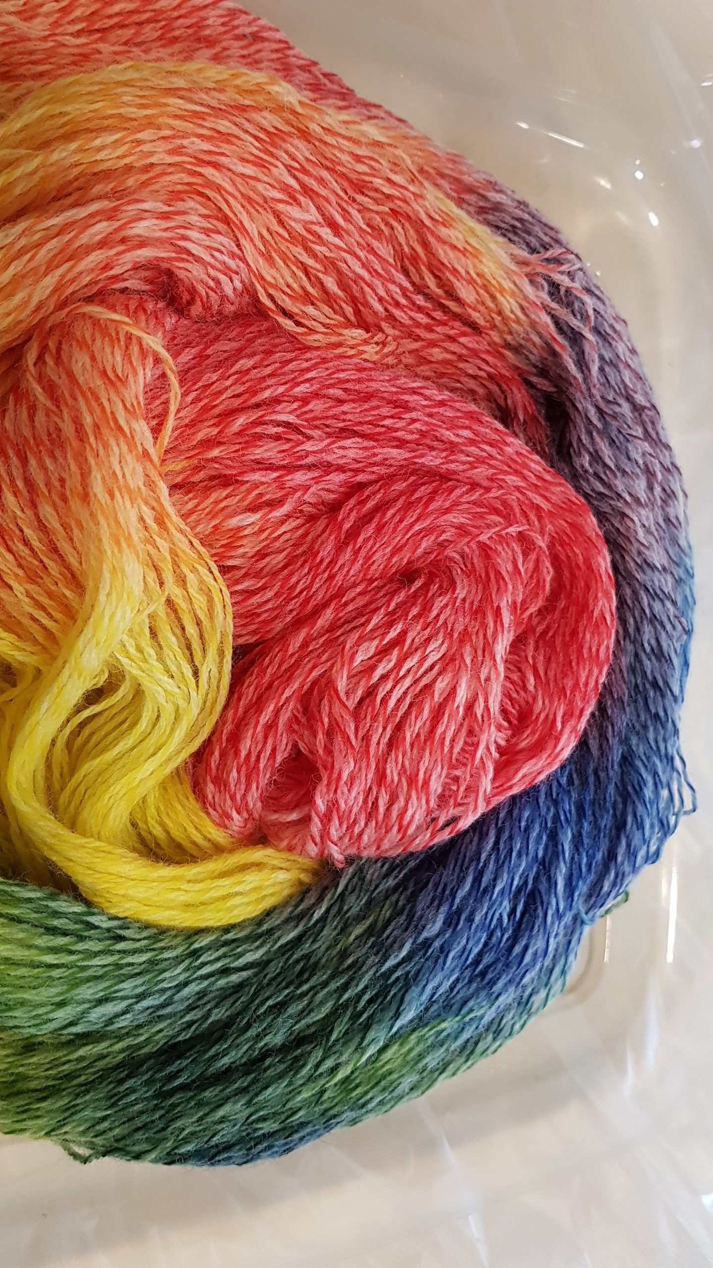 Wool tweed sock yarn hand-dyed with DT Craft & Design procion mx dyes