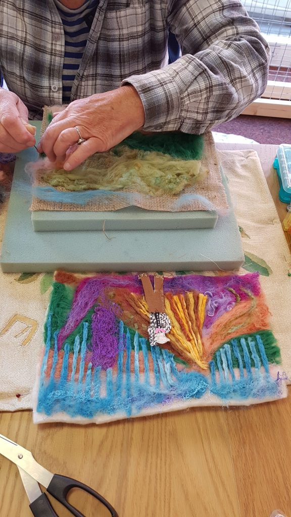 Thursday Textiles Group with Debbie Tomkies at Open Studios Altrincham